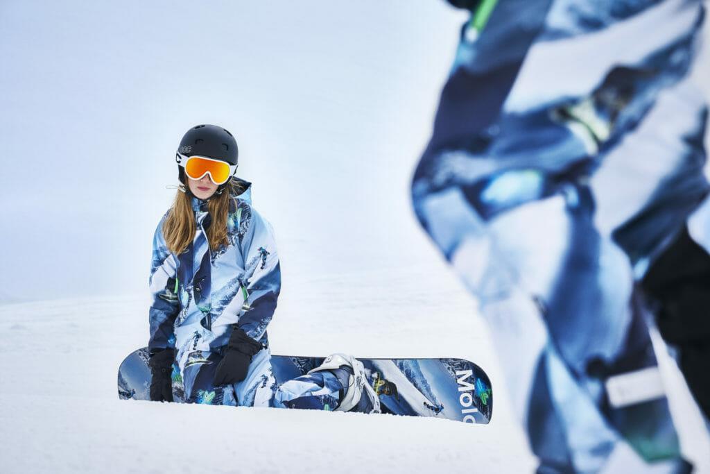 Alpine print technical kids ski wear from Molo for winter 2019