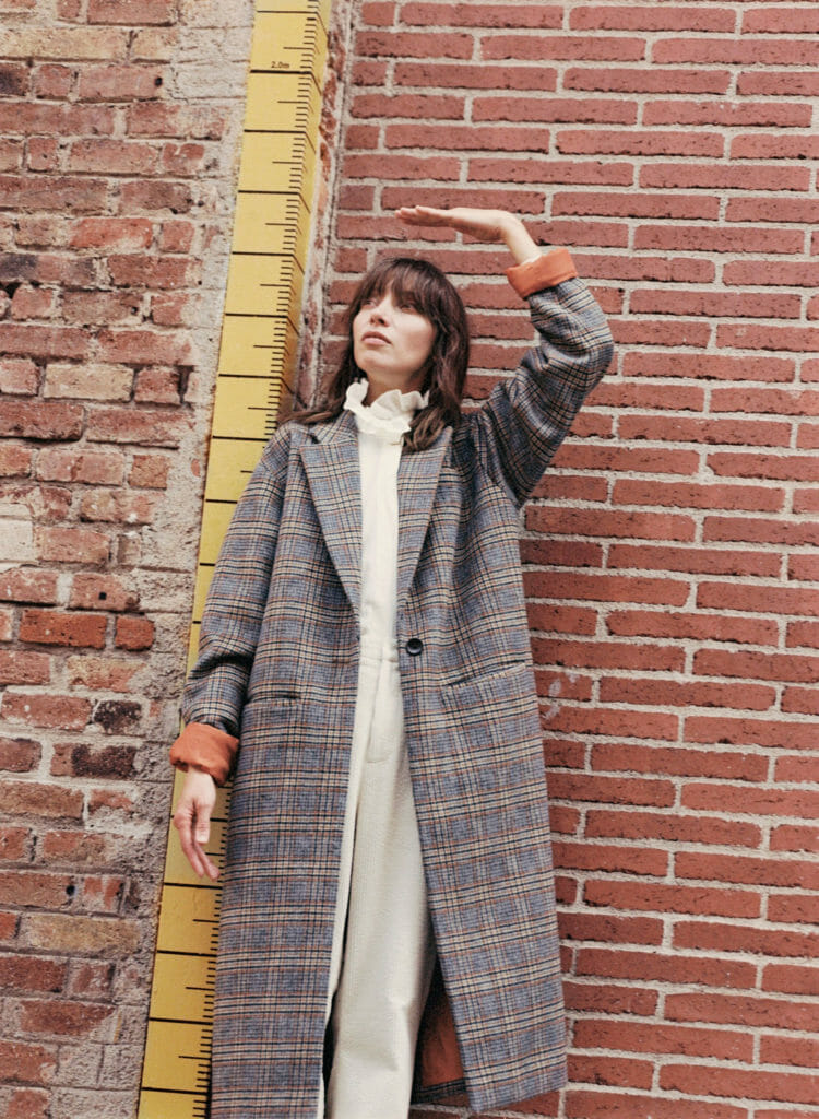 Classic checks in a maxi me style from Milk & Biscuits for winter 2019