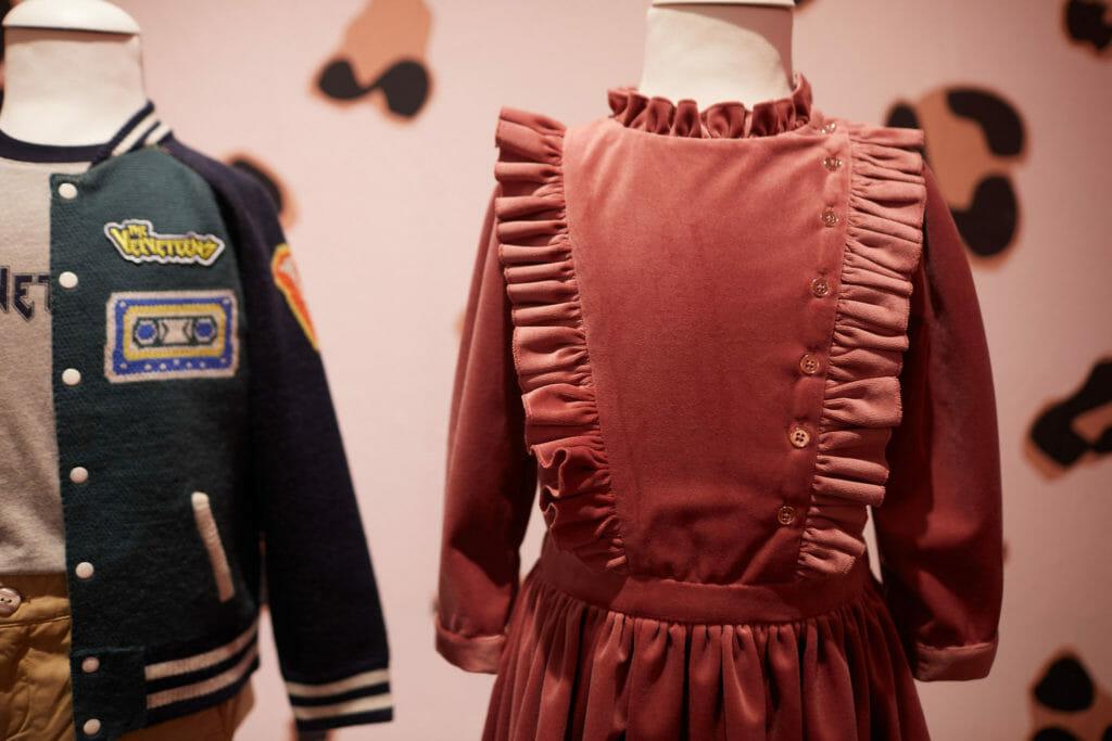 Pitti Bimbo 90 kids fashion trends showed velvet and frills for girls and varsity jackets for boys here by Velveteen
