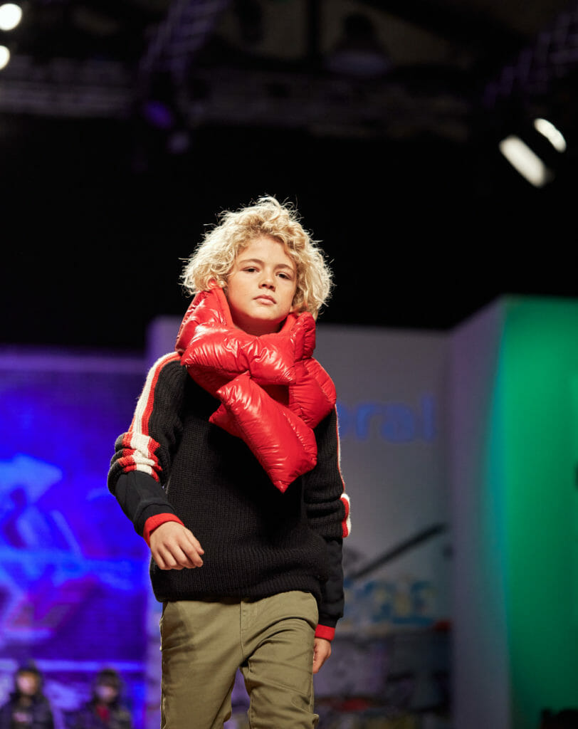 I loved the padded scarf at Mayoral for boyswear FW2020