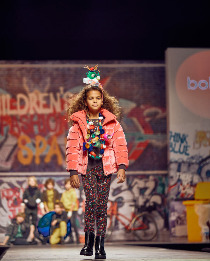 Boboli girls had headpieces and necklaces made from recycled plastics