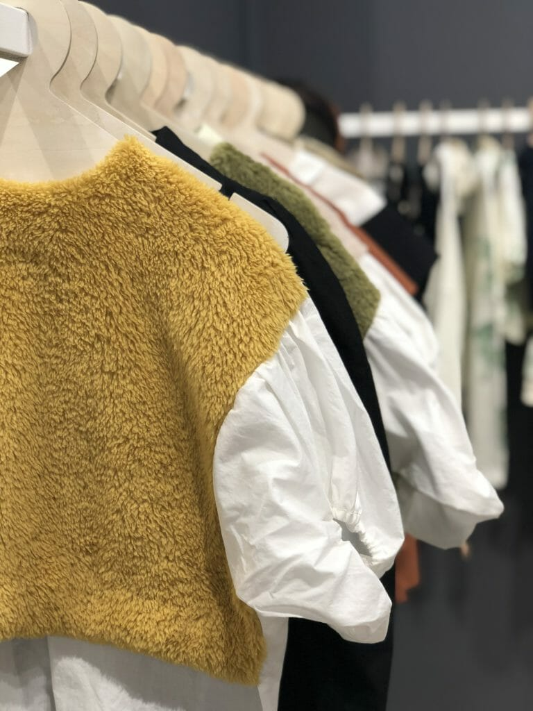 Fleece/cotton mix at Japanese label Folk Made at Playtime Paris, textured fleece is still a dominant trend in Paris.