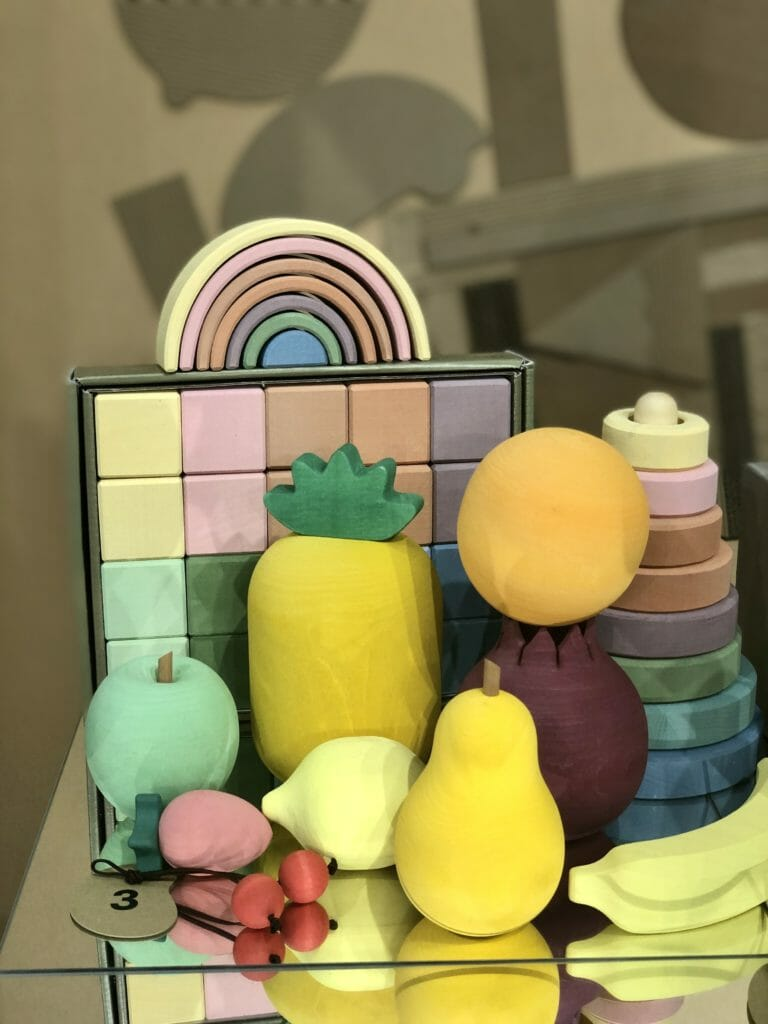 Raduga Grez make gorgeous wooden toys for children in rainbow colours with a new sorbet version for fw20