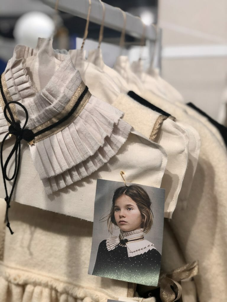 Sustainable brand Cosmosophie have gorgeous collars that can be switched between their simple quality dresses and tops at Playtime Paris