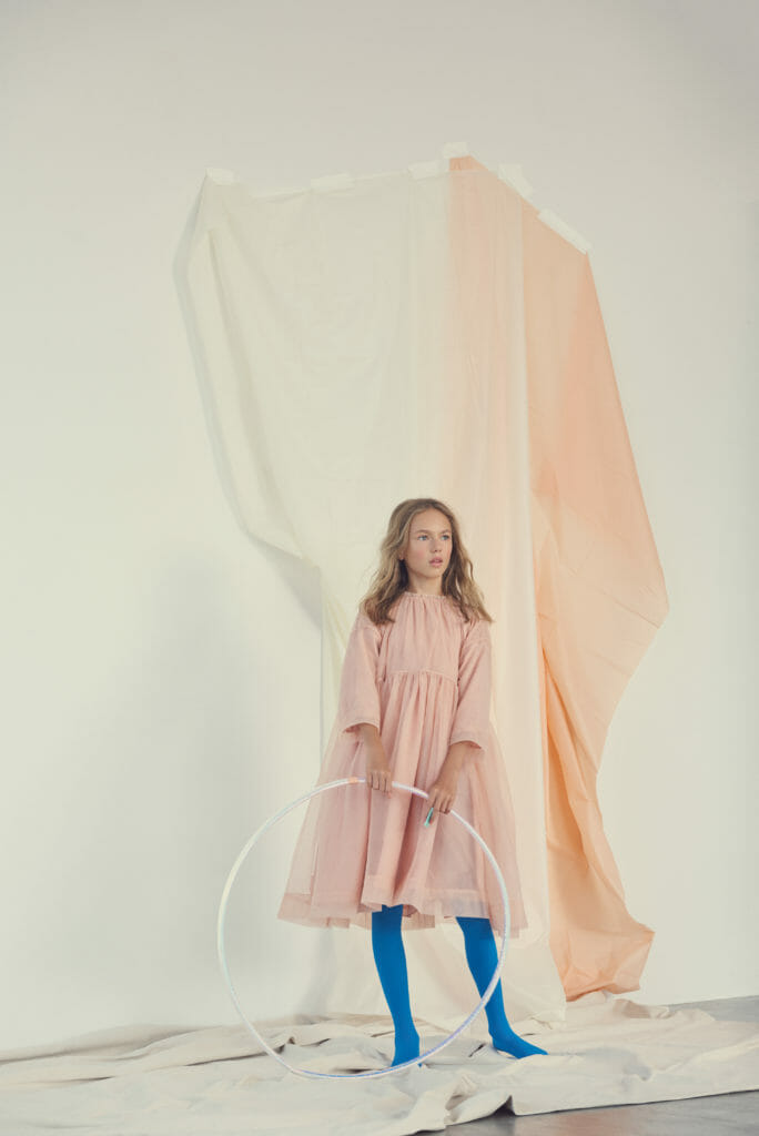 Modern colour kids fashion shoot by Franck Malthierry for Hooligans magazine
