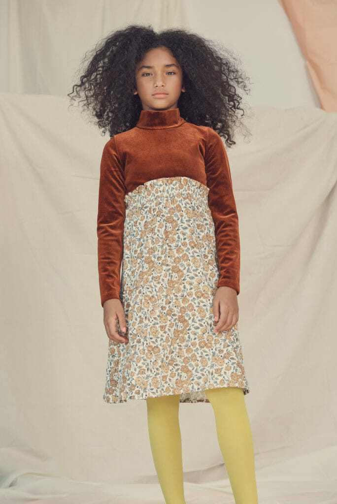 A 70's retro colour palette is still on trend in kids fashion