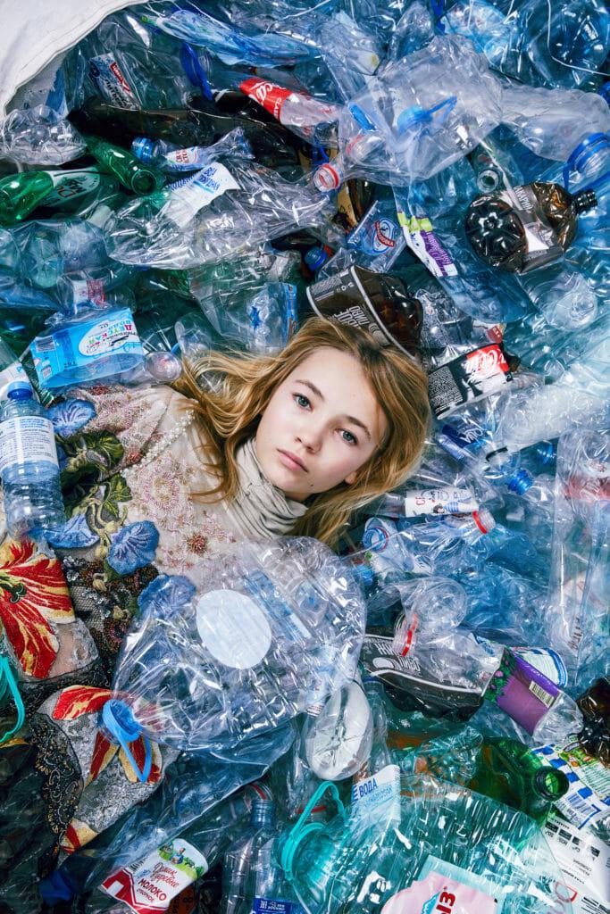 Plastic World kids fashion shoot by Vika Pobeda for Hooligans magazine No 23