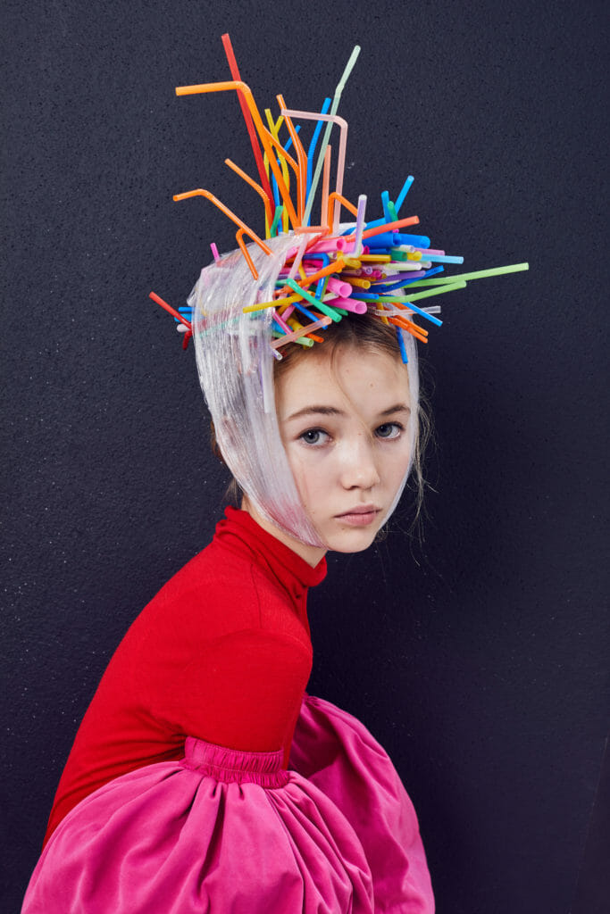 Why don't you....? Make a hat from recycled plastic straws!
