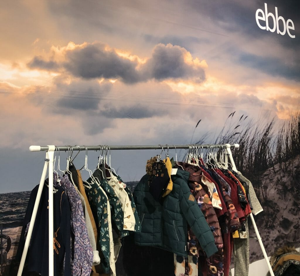 Ebbe had a fabulous autumn sky background for their practical collection with cute flower print outwerwear