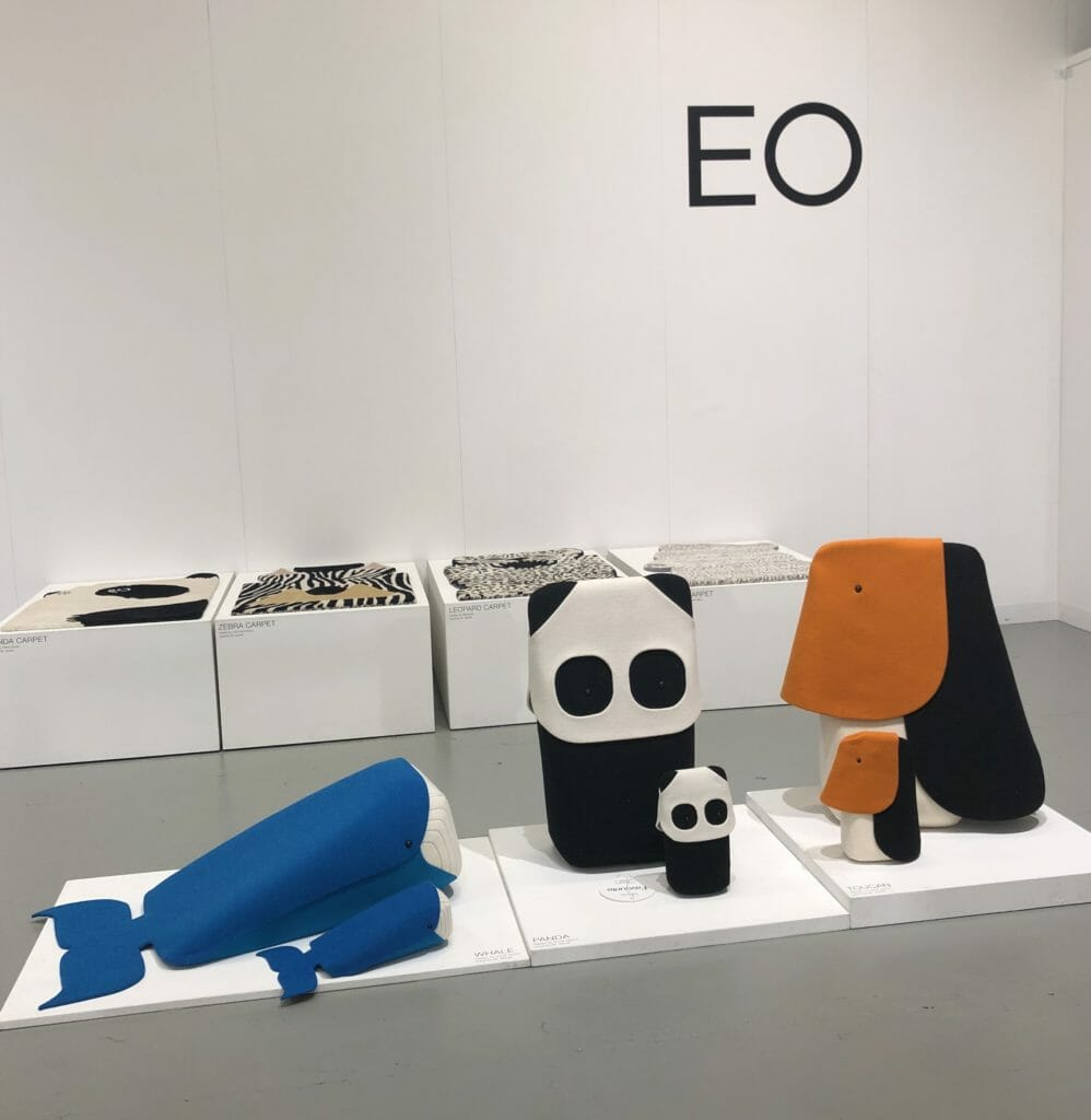 EO DK always have inventive and exciting collaborations with different designers, these animal seating wedges are adorable and have matching mini toy versions