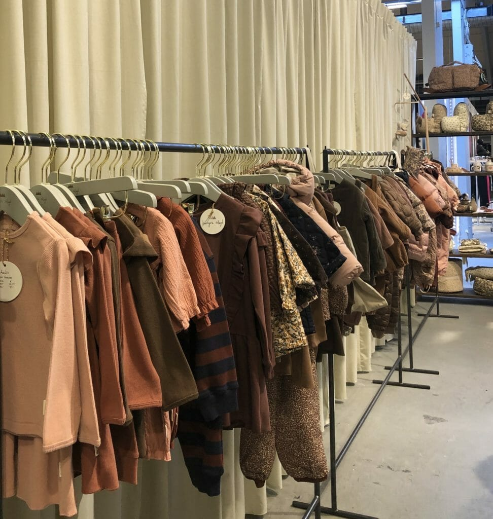 Winter 2020 kids fashion at CIFF Youth featured spice and autumn leaf tones here at Konges Slojd