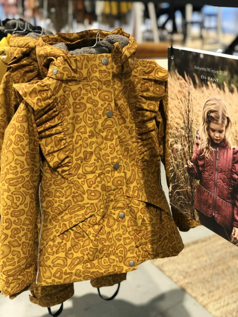 Spice colour outerwear from EnFant at CIFF Youth kids fashion for winter 2020
