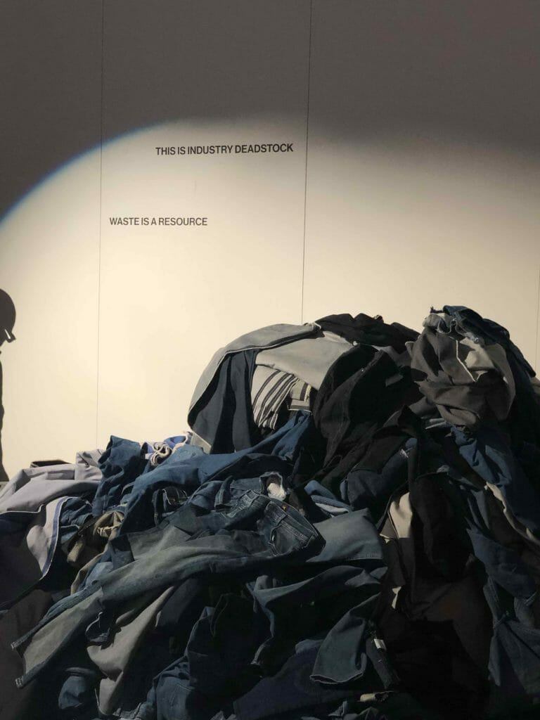 Lee Jeans deadstock at the interactive exhibition opening to CIFF DK at Copenhagen Fashion Week