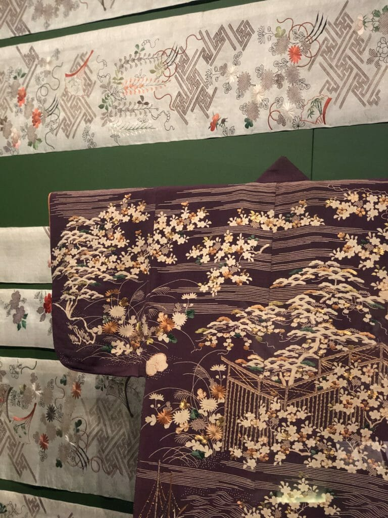 Kyoto around 1800, Kimono are constructed with minimal cutting from a single bolt of cloth