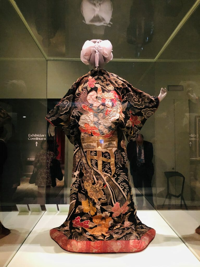 This probably belonged to a high ranking Courtesan in Kyoto around 1860-80 they were the celebrities of their day in japan