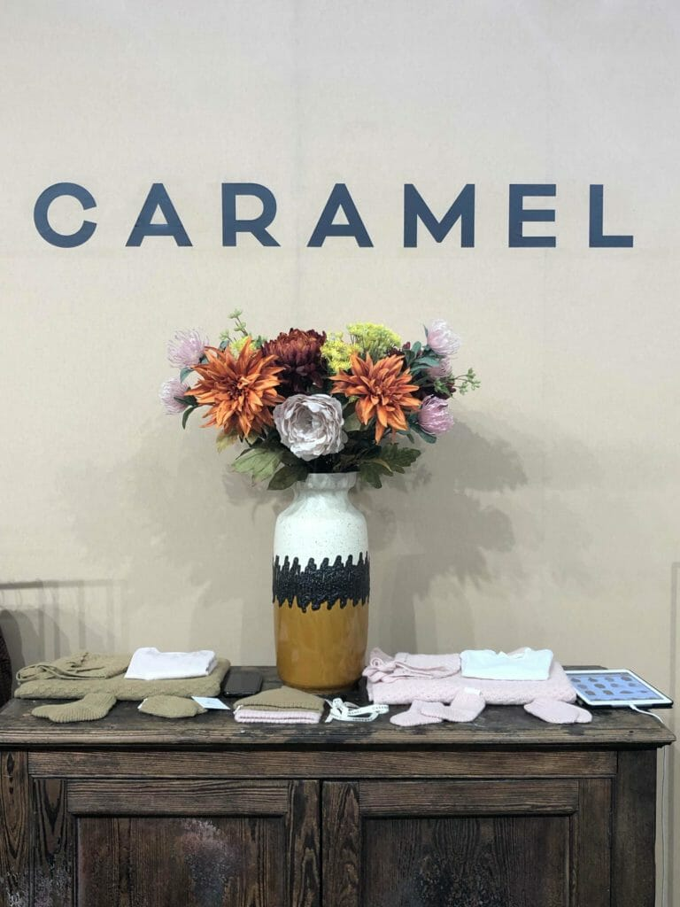 Lovely vase and flowers at Caramel at Playtime Paris in Jan 2020