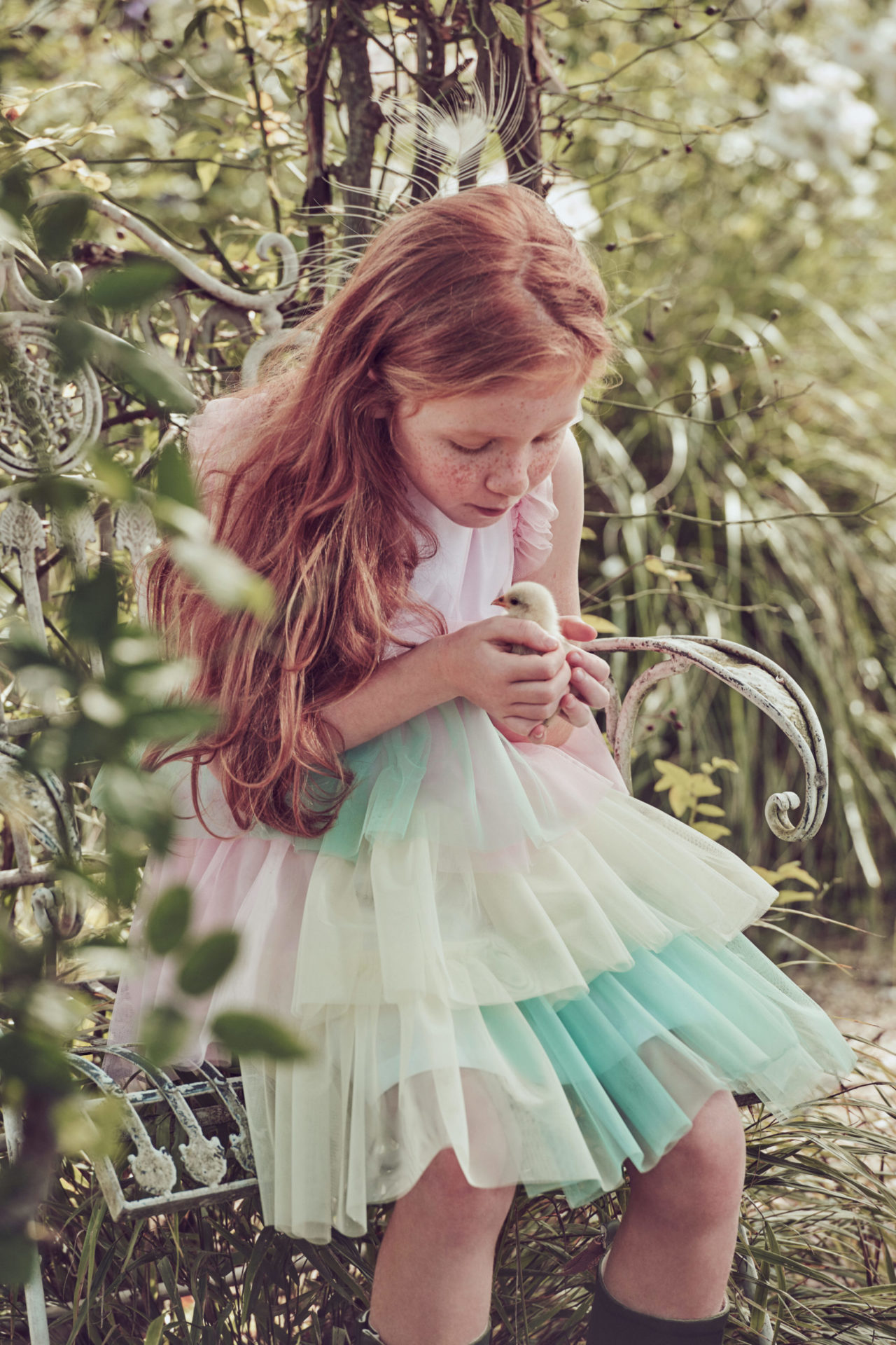 This summers fashion trend for tulle in a beautiful girls dress by Il Gufo