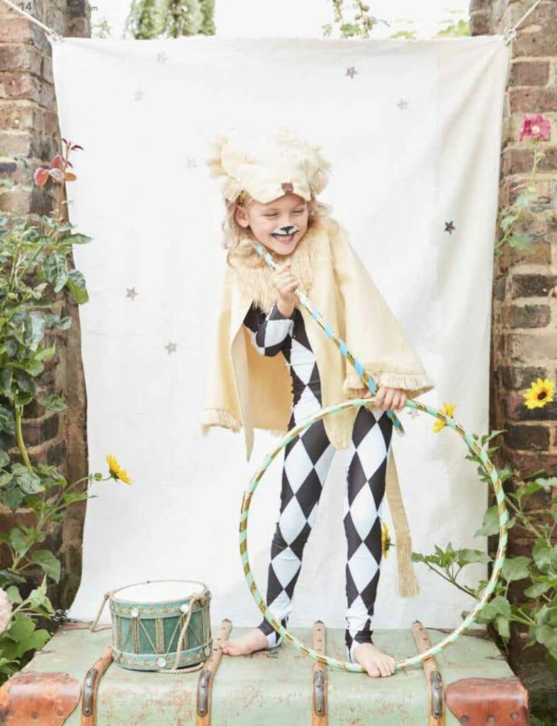 Harlequin Lion costume at Meri Meri kids dress up party brand