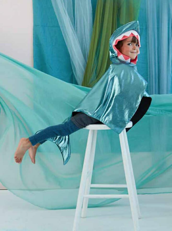 Deep dive shark costume at Meri Meri for summer 2020 fancy dress