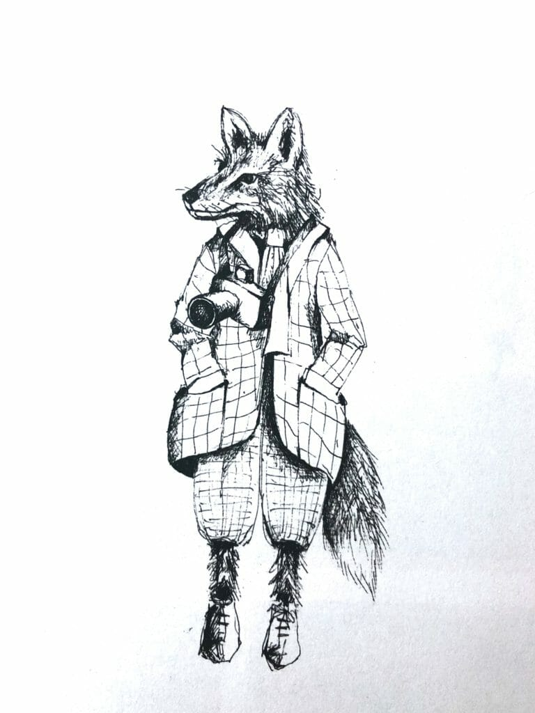 Mr Fox from LCF Twisted Tales, there is also a Rabbit on the free colouring downloads for downloads