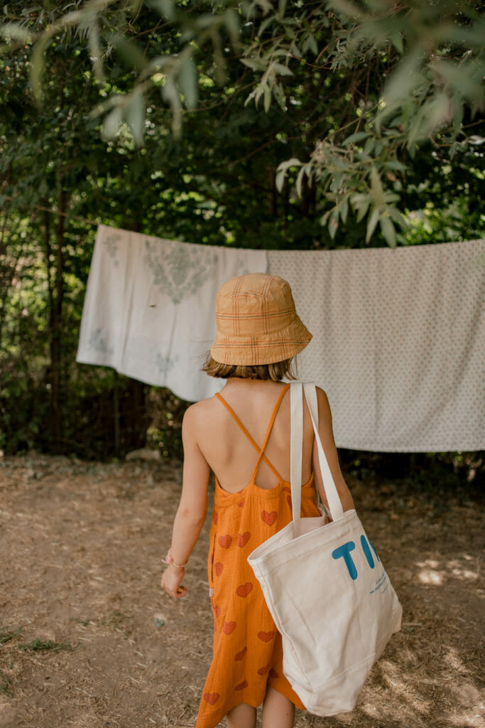 Summer dress and tote by Tiny Cottons for SS20 girls fashion