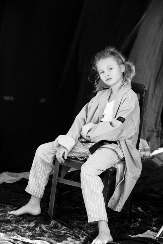 Monochromatic kids fashion shoot from the new Hooligans magazine