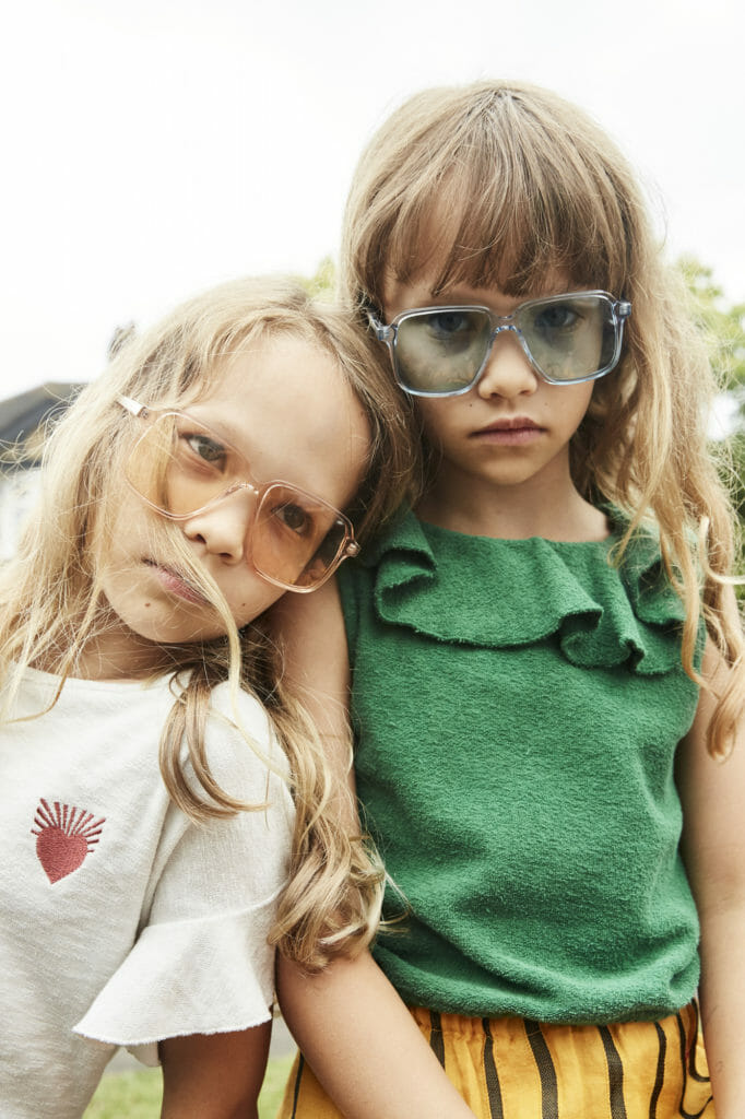 Glasses from We The Children, white top by Wynken and shorts by Jelly Mallow. Green top with frill by Long Live the Queen