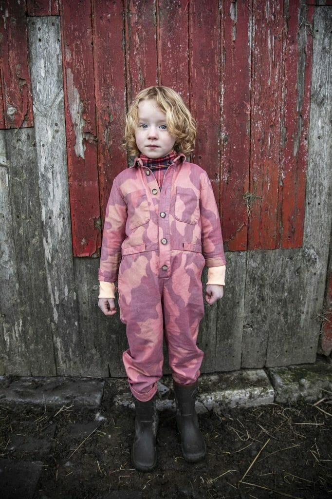 Striking pink camouflage at Morley autumn kidswear