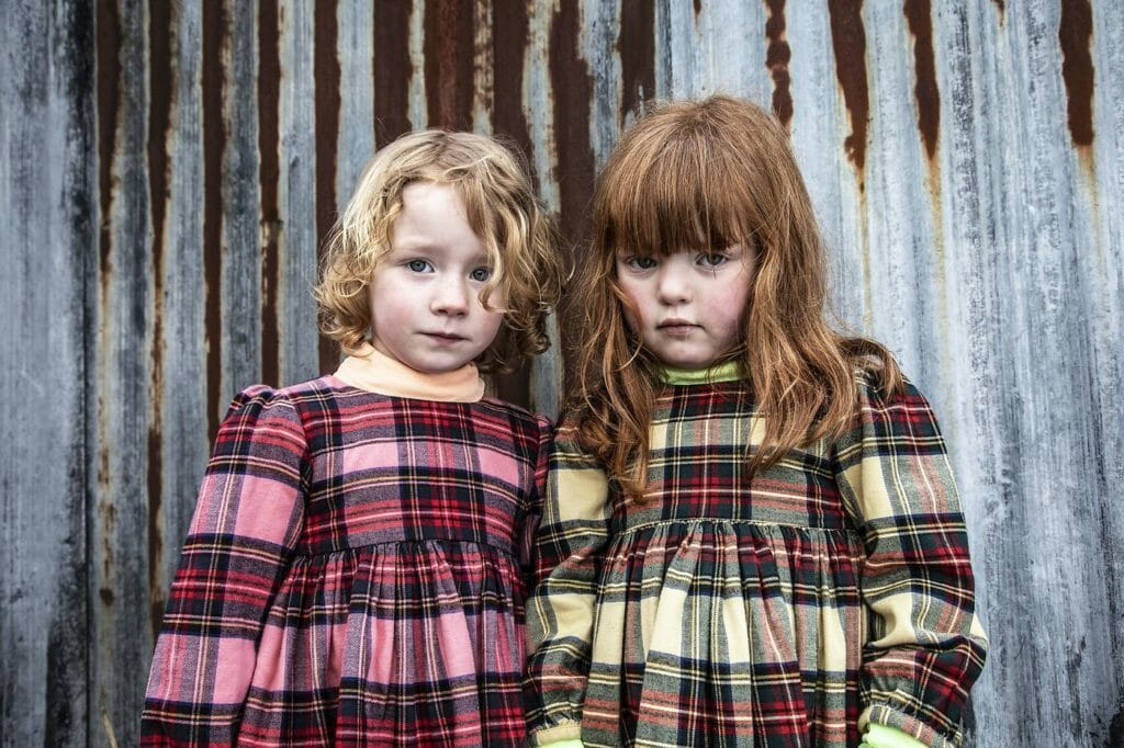 Beautiful overdyed tartan plaid dresses at Morley for winter 2020
