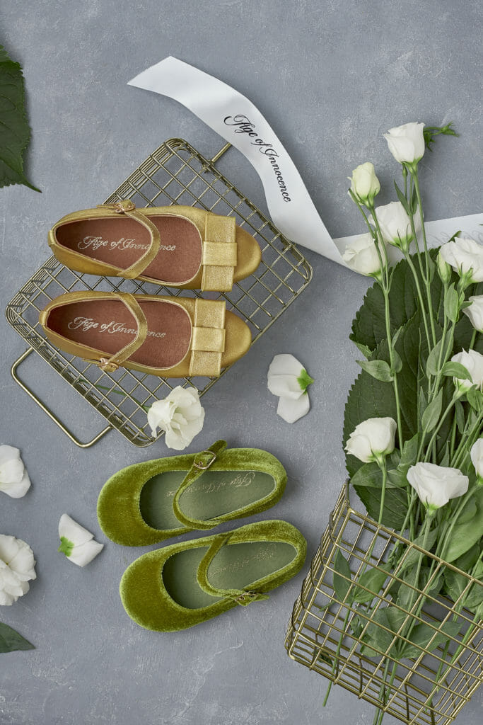 Beautiful heirloom shoes by Age of Innocence for SS21