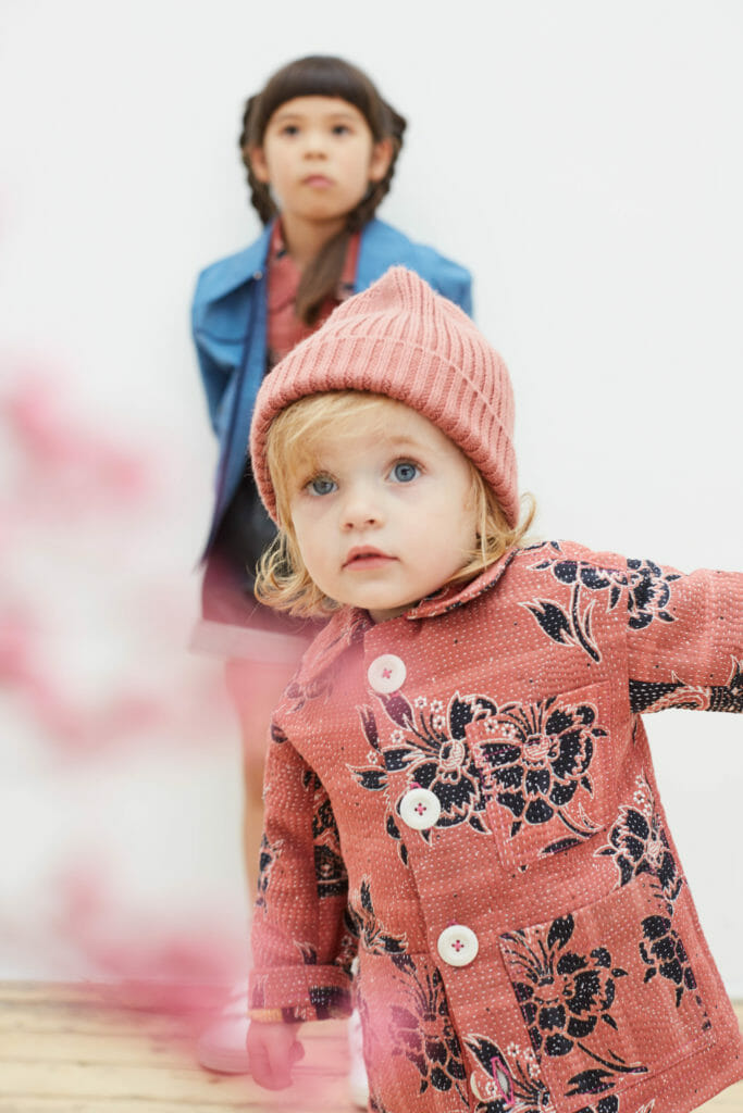 Toddler fashion from Chapter using vintage quilts