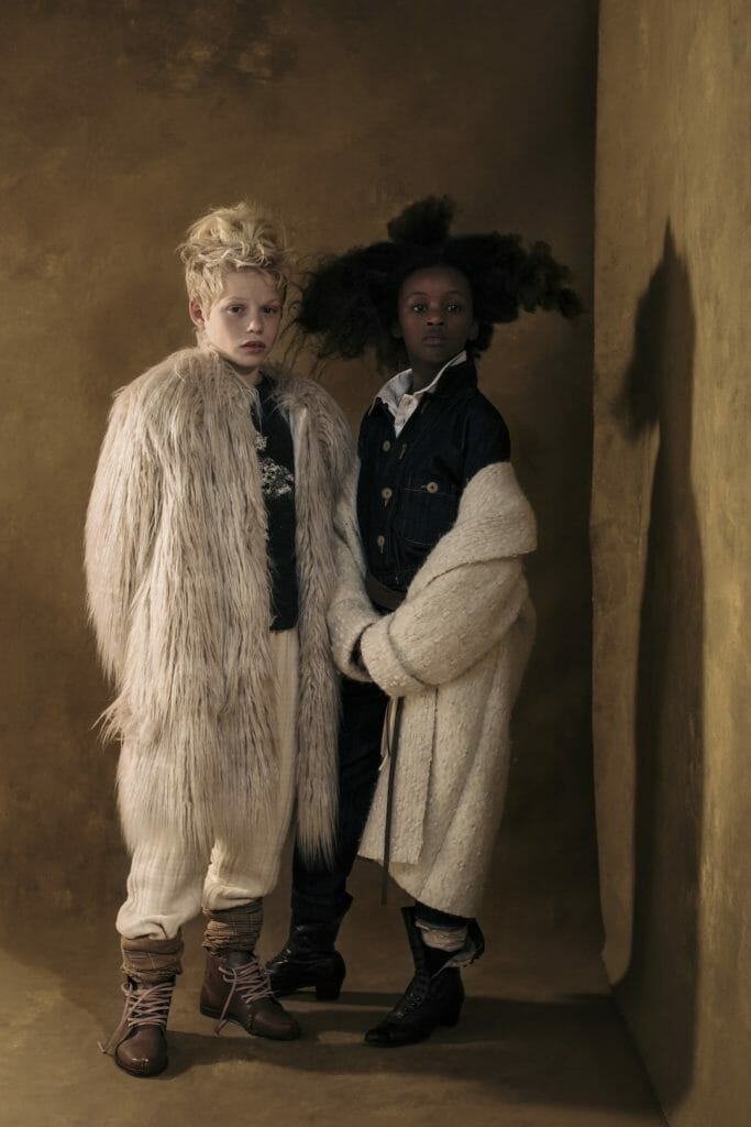 Shaggy faux fur and blanket coat alternatives to layer for fall by Little Creative Factory