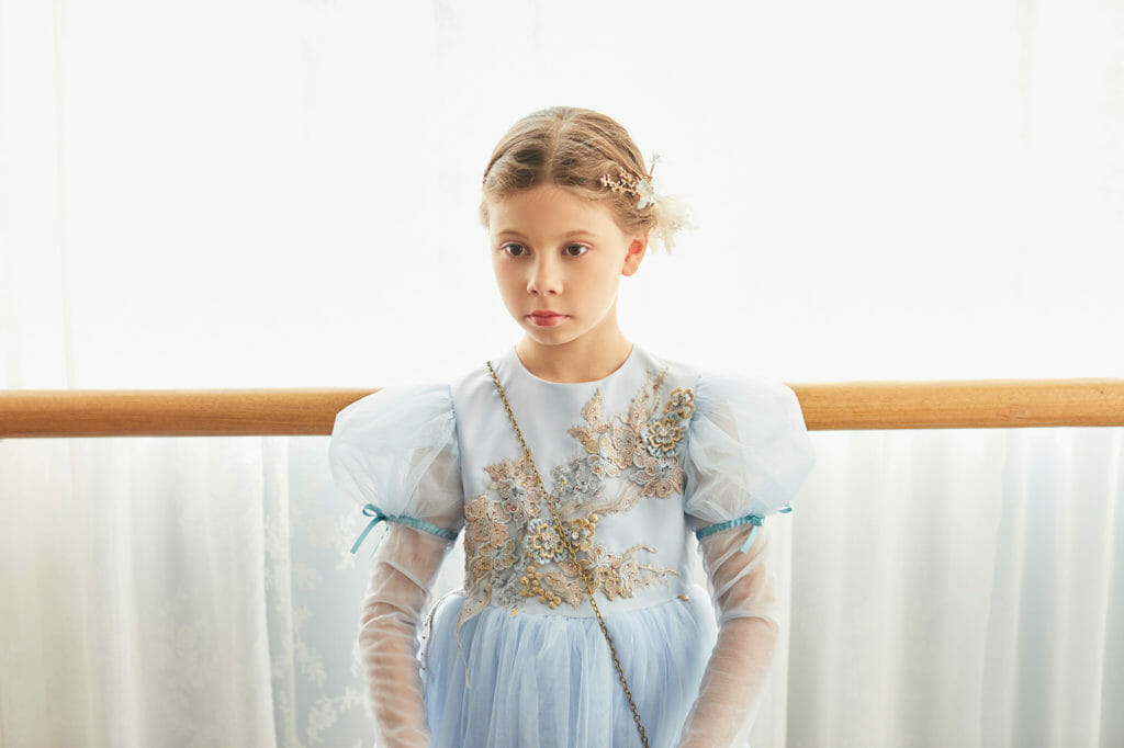 Beautiful Le Mu starts our Kids fashion trends Digital Kids Fashion Week day 4