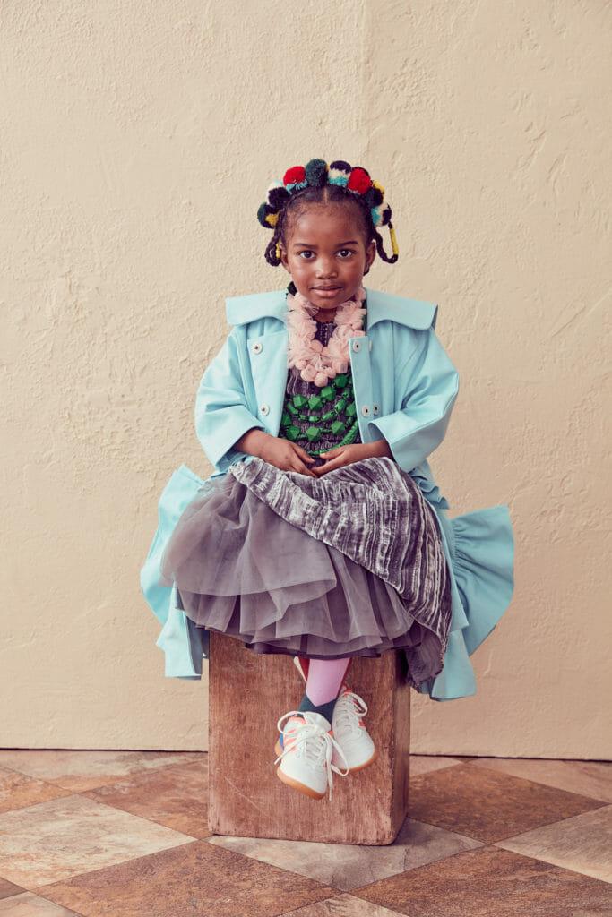 Modern tribal mix by Tia Cibani for fall/winter 2020 kids fashion
