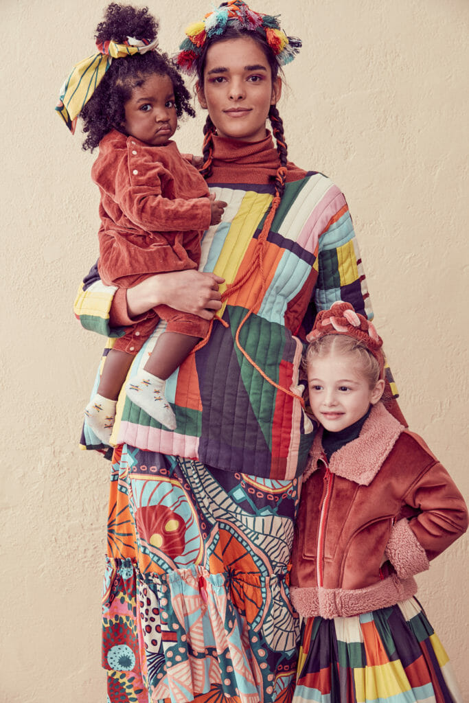 Wonderful re-imagined African inspiration by Tia Cibani with Mini Me styles