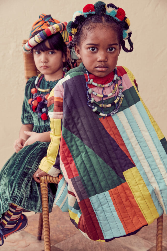 Quilted craft kids clothing for fall 2020 by Tia Cibani