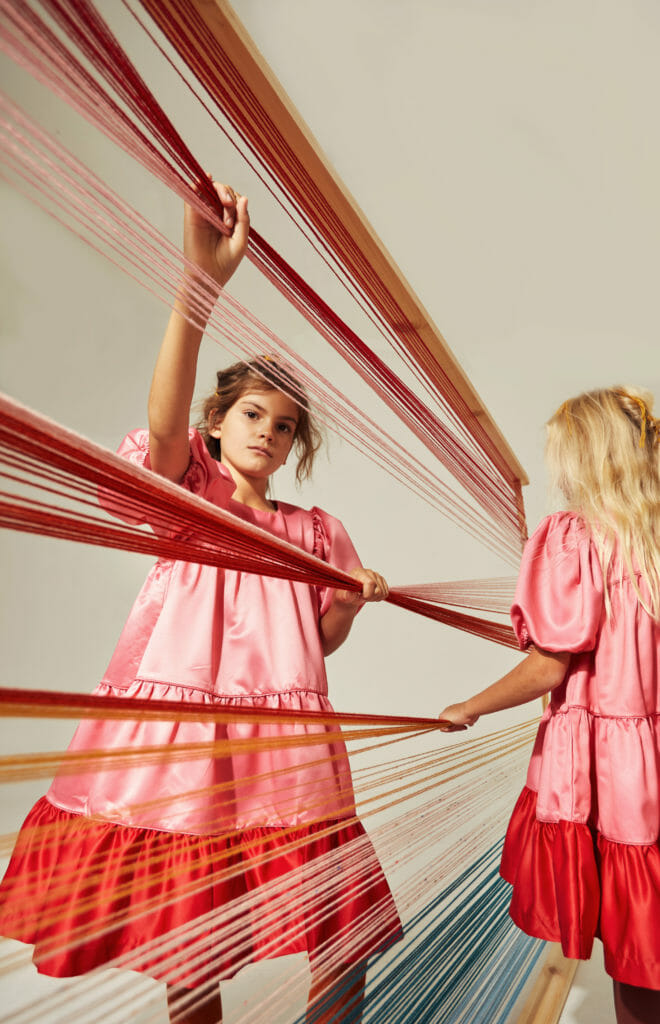 Bright tiered silky dresses all the mums will be wanting too at The Middle Daughter