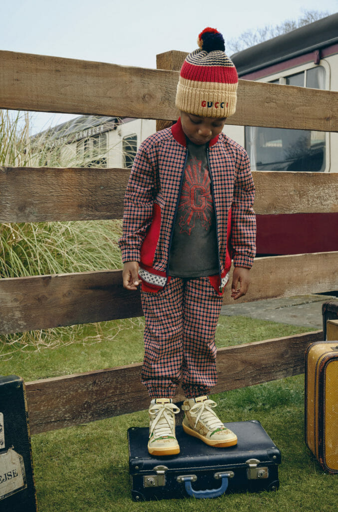 Sports styling for boys at Gucci kids winter 2020