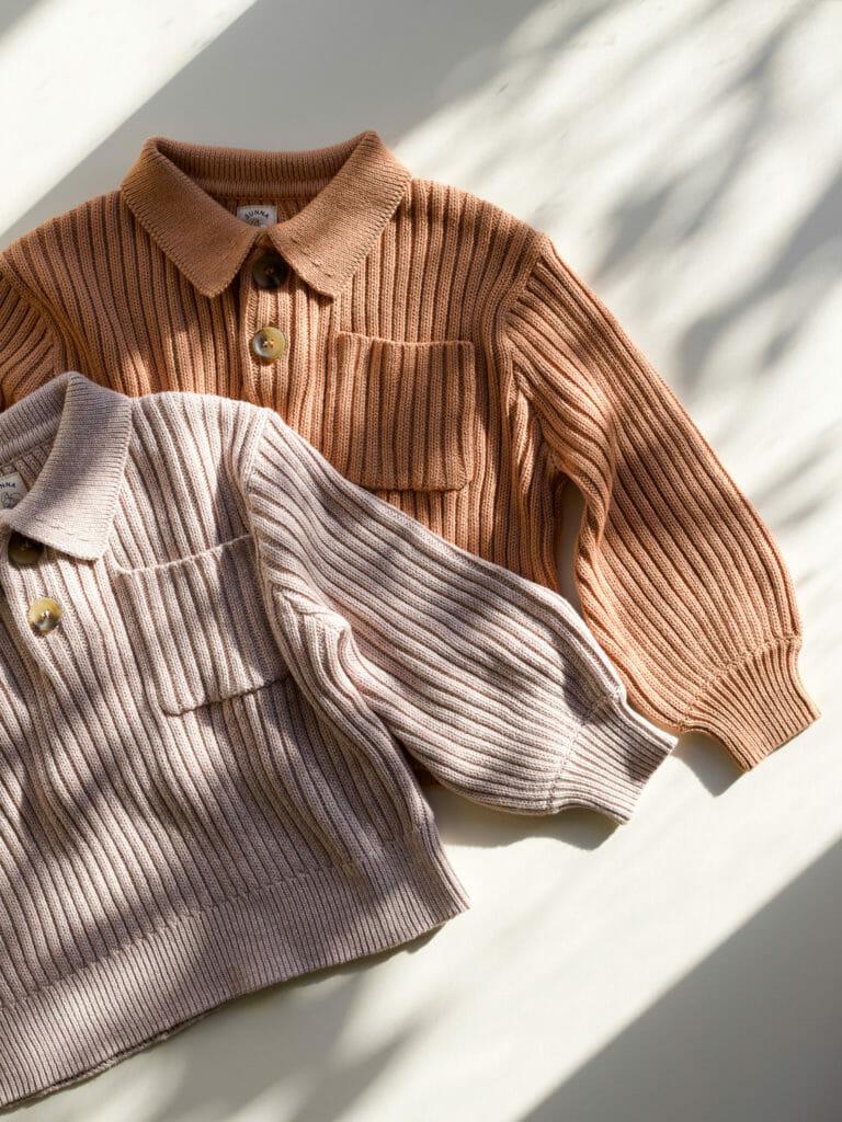 Organic kids classic sweaters by Sunna Studios