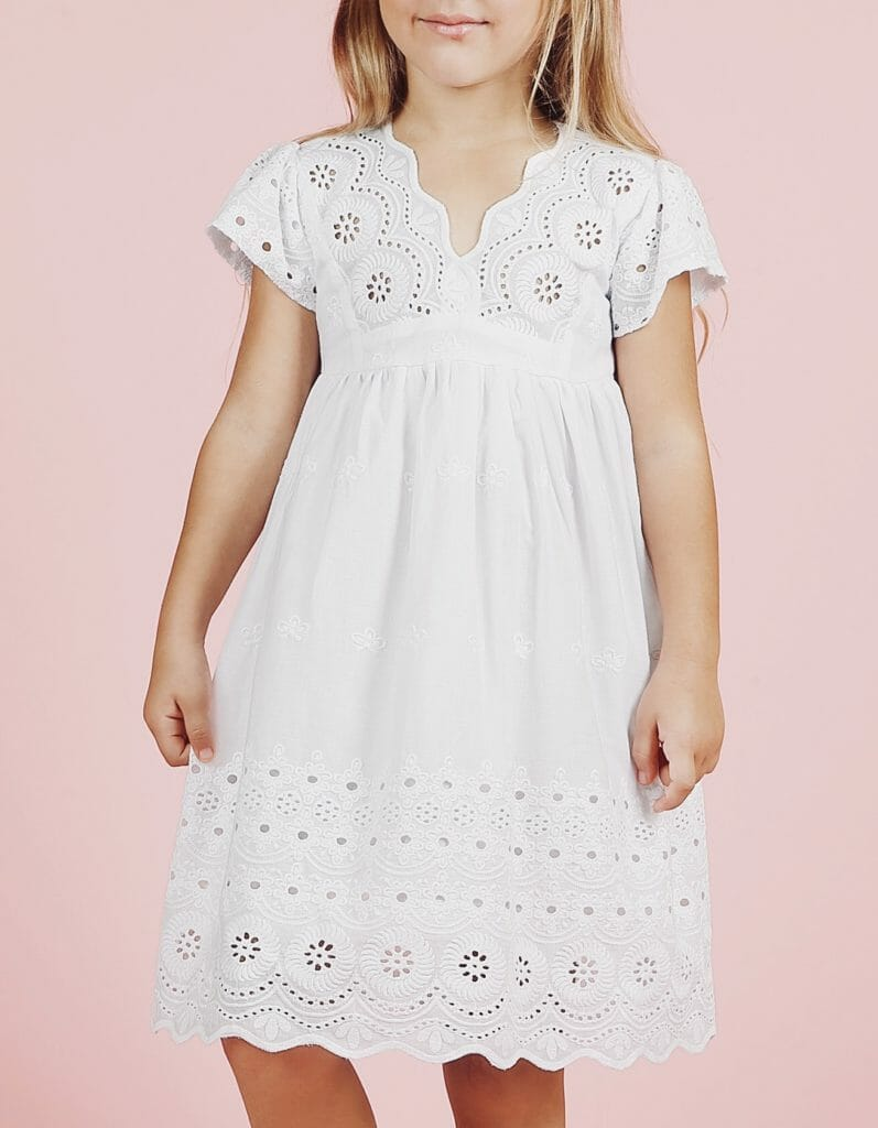 Summer 2021 kids fashion with beautiful lace at Bella and Emma