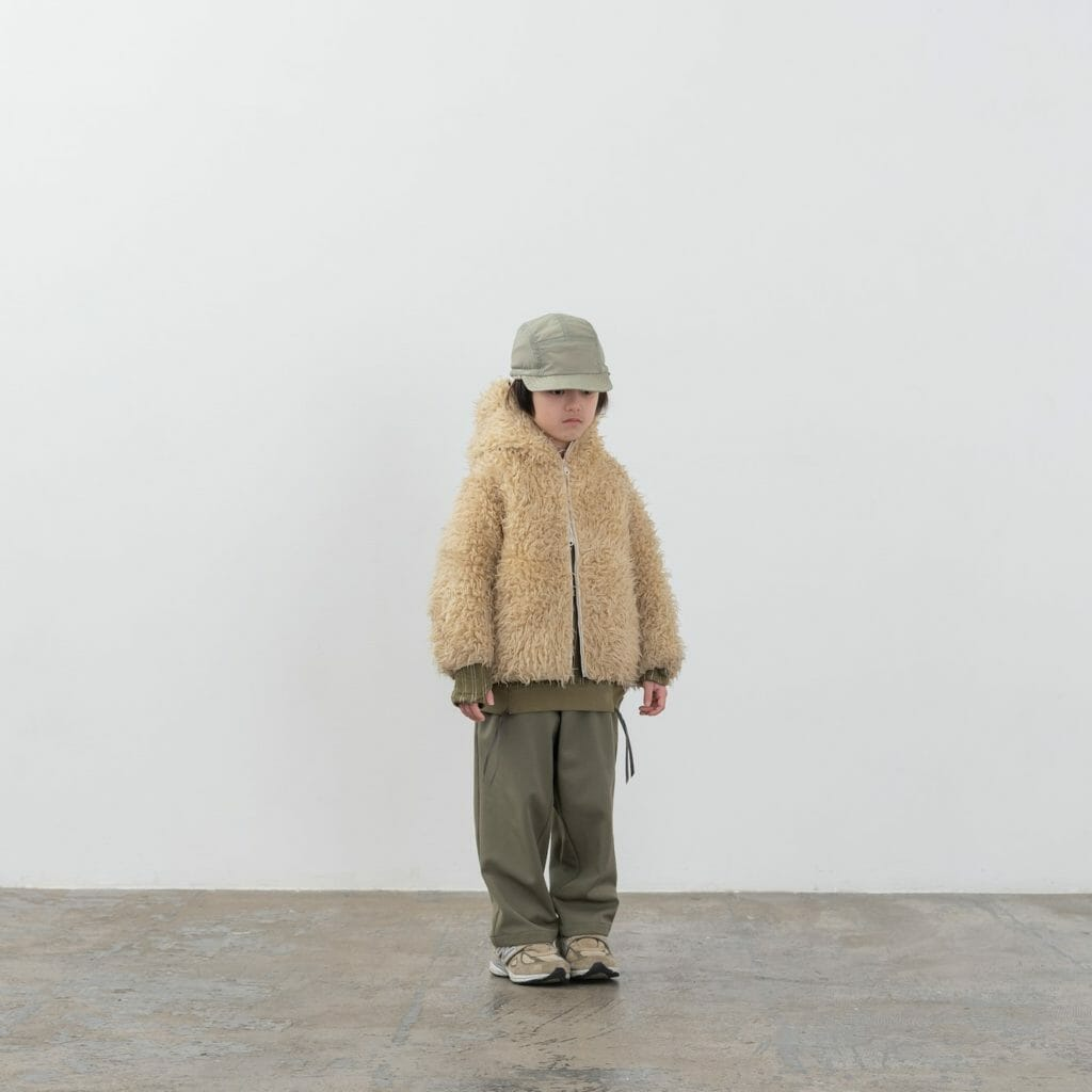 Great kids outdoor wear with shaggy tops for warmth at Moun-Ten FW20