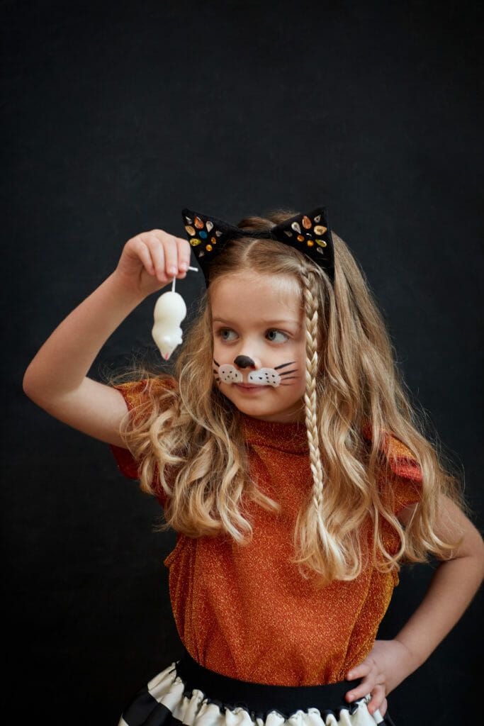 Halloween beckons for little cat girls who love sugar mice at Meri Meri