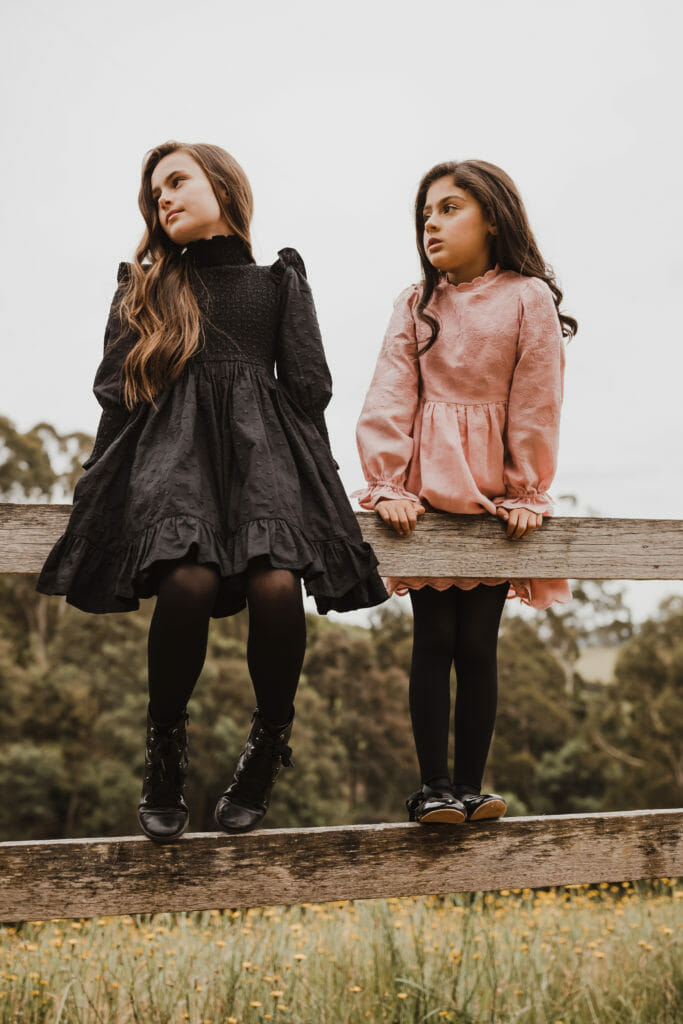 On trend Victorian style from Petite Amalie for Holiday 2020 kids fashion