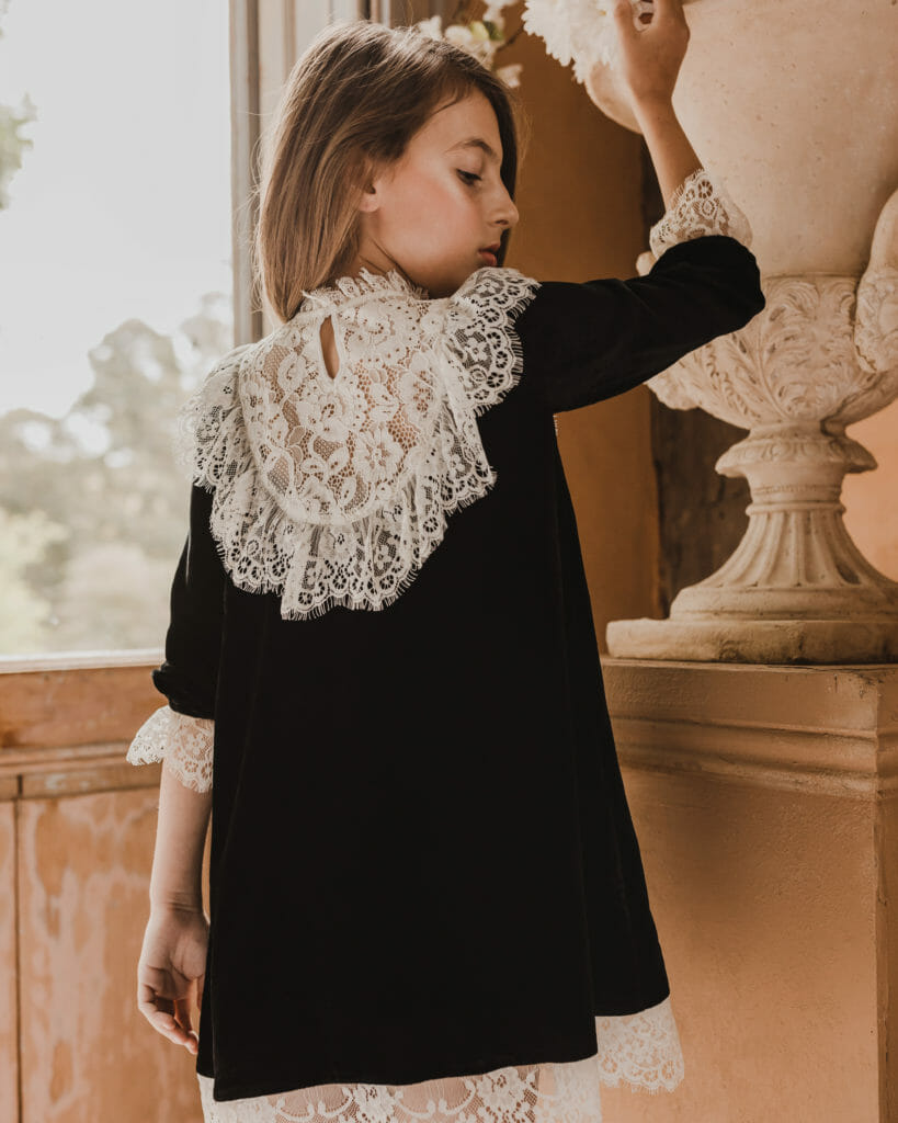 Gorgeous back detail from Petite Amalie girls fashion for Holiday 2020