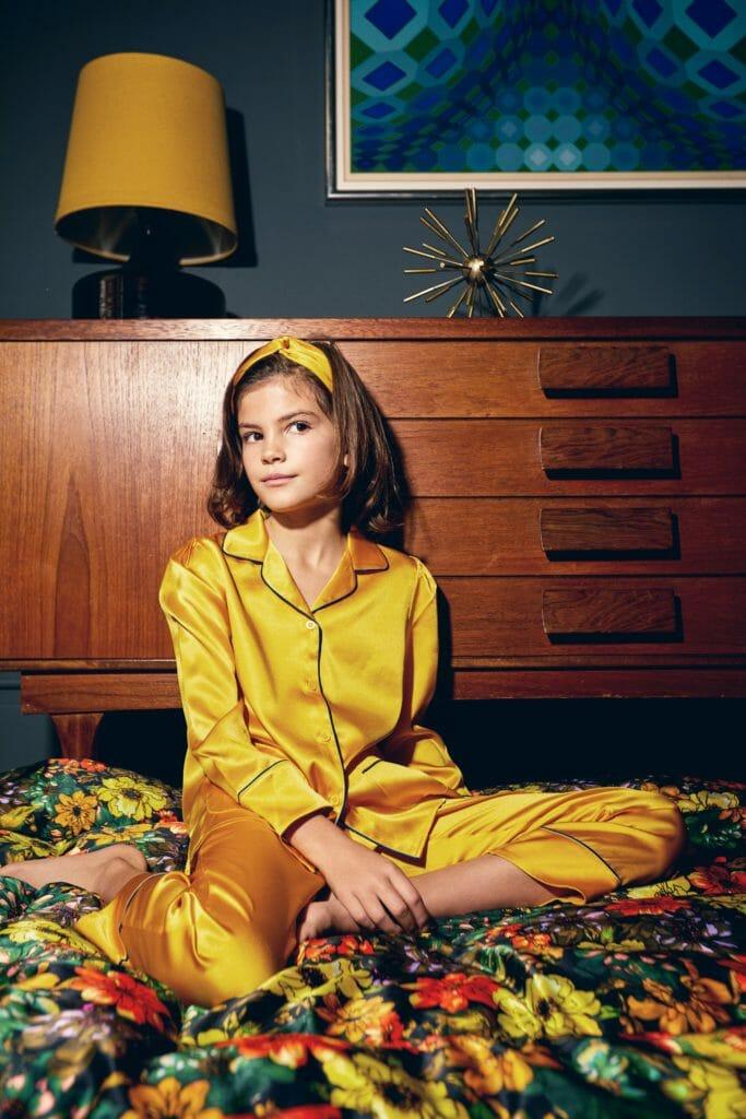 Sleepy Wilson's beautiful silk pyjamas for kids and adults