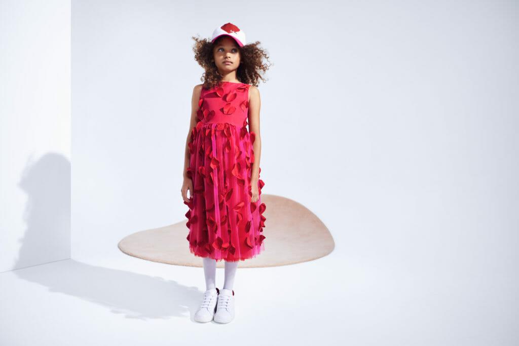 Petal heart dress by Simonetta for summer 2021 girlswear