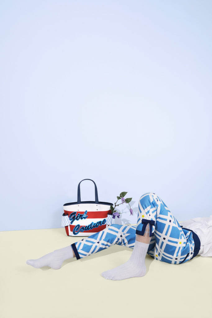 Bold plaid checks are a key part of the Simonetta SS21 girls fashion collection