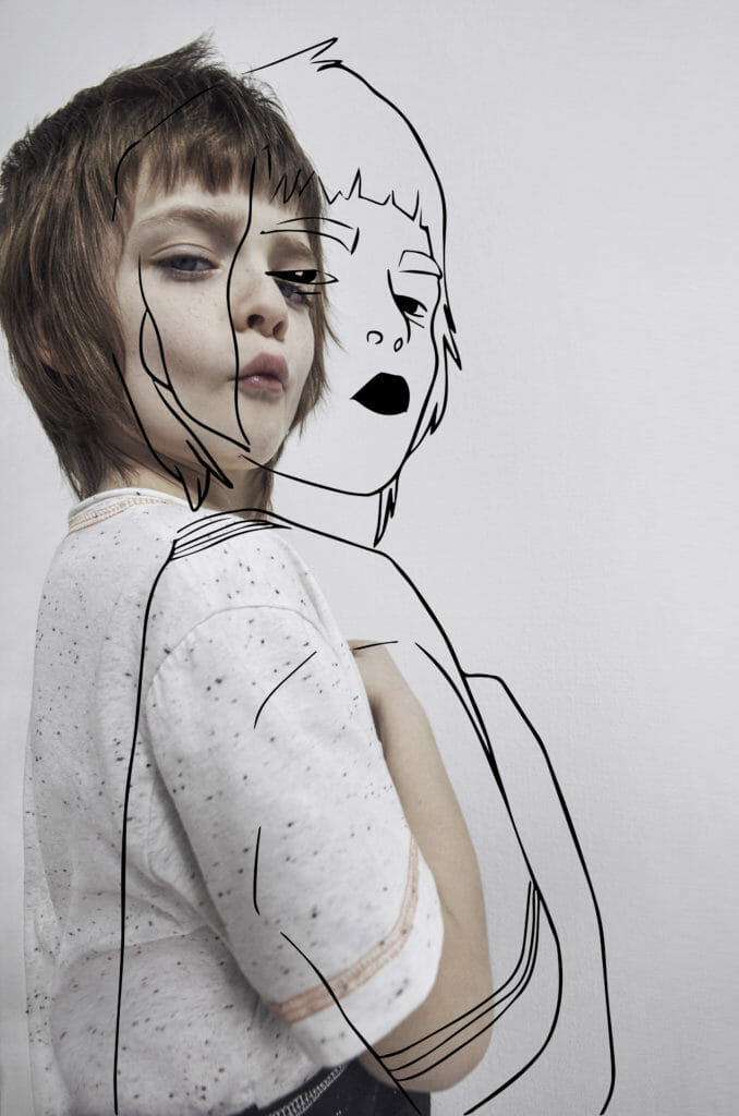 Cool illustrated portraits add to the funky vibe at Loud Apparel kidswear SS21