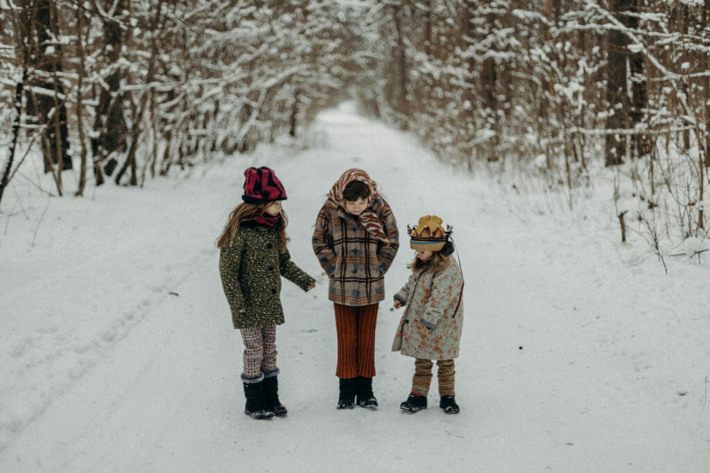 Paade Mode for FW21 kids fashion with cosy warm checked coats and knitwear
