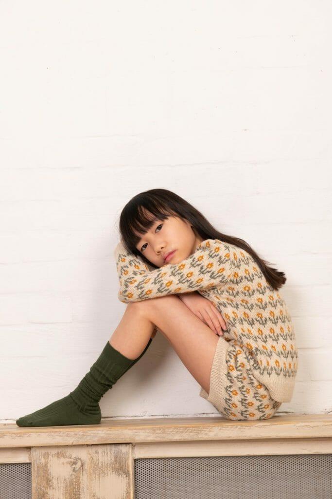 Kids Fashion trends FW21 showed a lot of knitwear here by Kokori